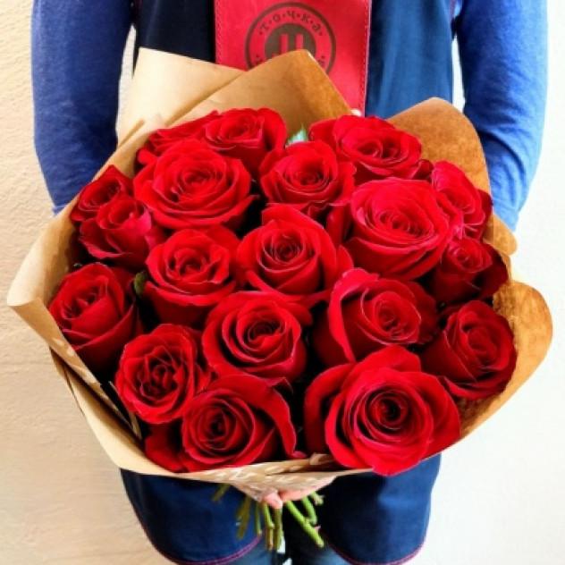 Букет 11 роз в крафте